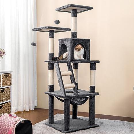 Amazon.com: purlove Torre árbol para gatos de gato con Condo ...