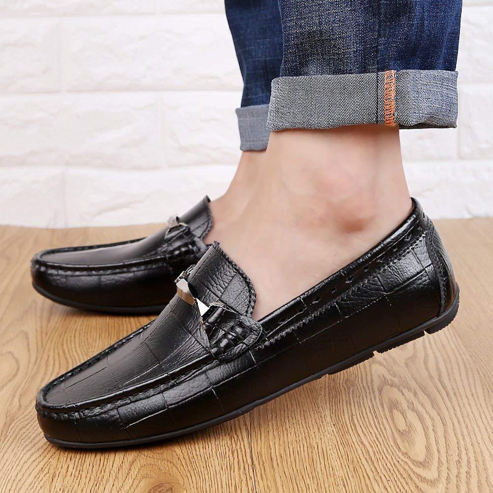 Fuxitoggo Fuxitoggo Fuxitoggo Britische Mode Peas Schuhe Leder Freizeitschuhe Rutschfeste Füße Faule Herrenschuhe (Farbe   Blau, Größe   41) 1a359b