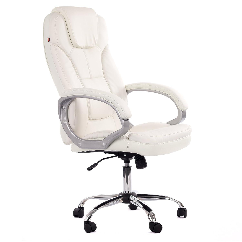 MY SIT Chaise De Bureau Siège De Bureau Fauteuil Design Blanc Milano - Siege fauteuil design