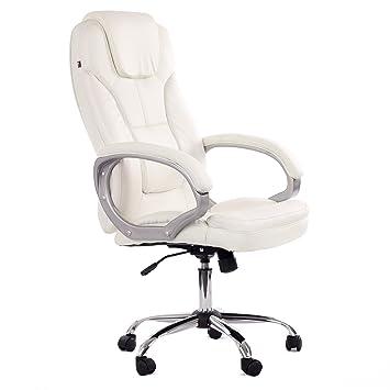 MY SIT Chaise De Bureau Siège De Bureau Fauteuil Design Blanc Milano - Fauteuil design bureau