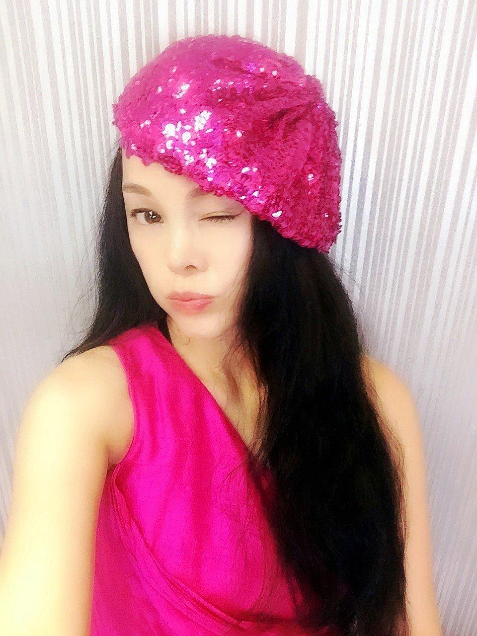 Peachblow Sequin Beret,Caps, Hats, Womens Hats, Sequined Hat, Beret, Gimme Cap, Fashion Hats, Personality Hats, Show Hats, Beautiful CapHipster,Fashion,Gift ,Show, Party ,Holiday