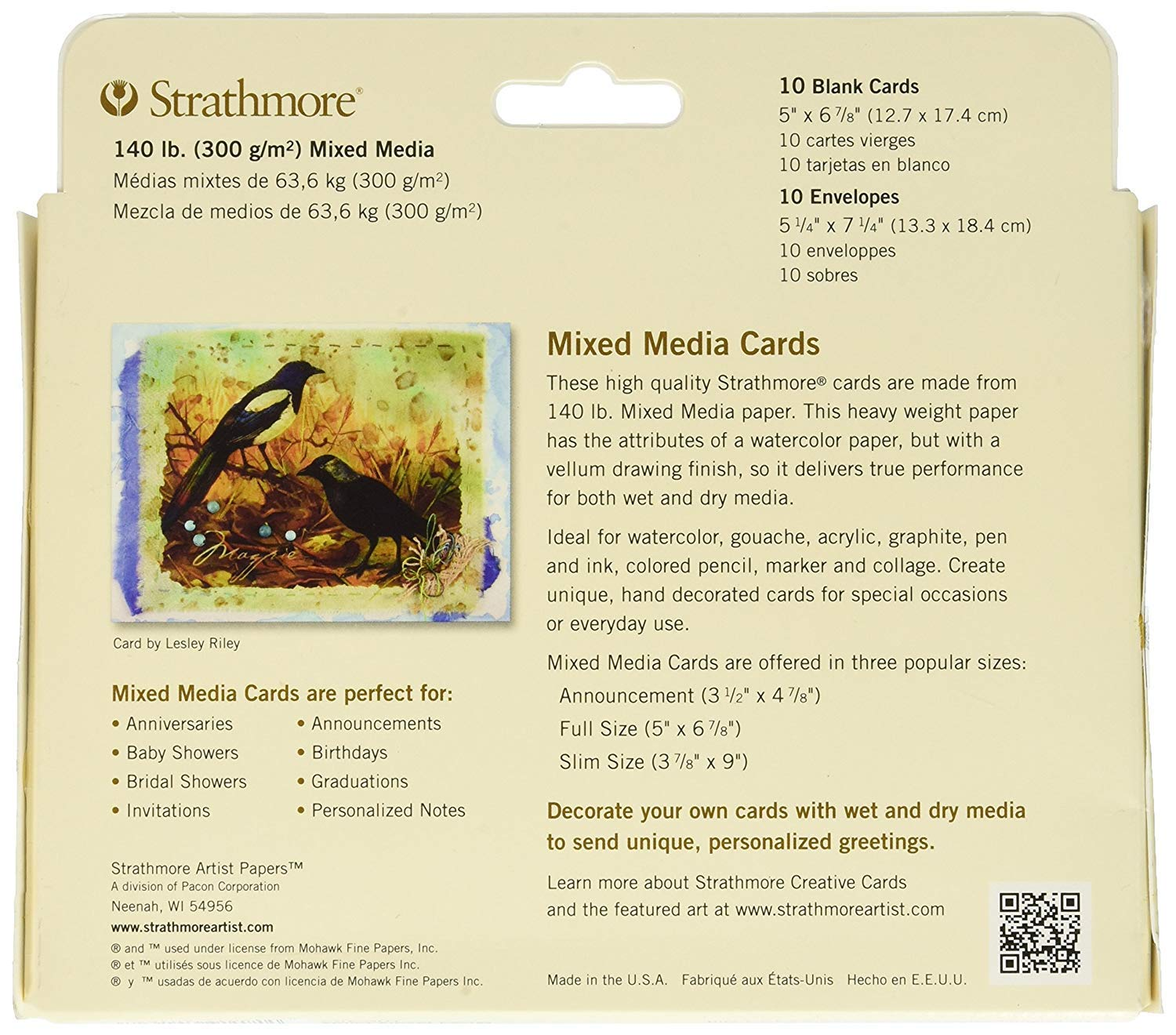 Strathmore 105-462-1 Mixed Media Cards