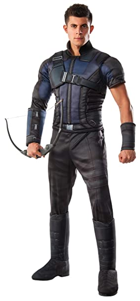 Rubies Costume Mens Captain America: Civil War Deluxe Muscle Chest Hawkeye Costume
