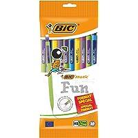 BIC Matic Fun mekaniska pennor 0,7 mm HB med suddgummi, perfekt för skolan, lätt att använda, blandade färger, paket med…