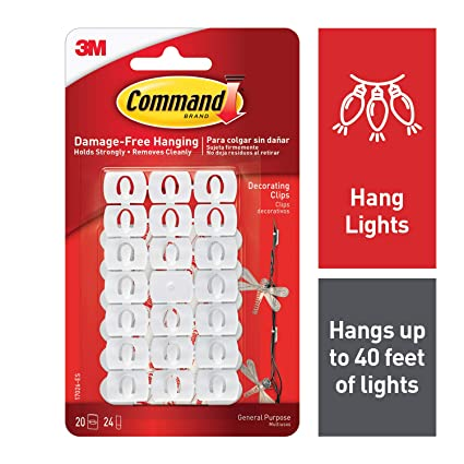 Command White White Light Clips, Indoor Use (17026-ES)