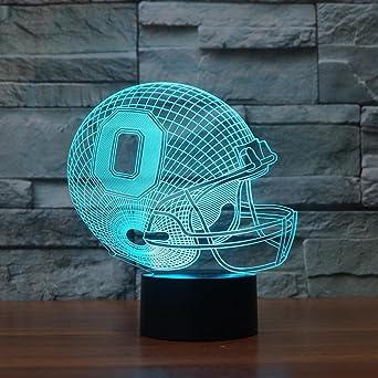Chapeau 3d Leuchten Football Ohio Veilleuse Note Pêche Biute EH29ID