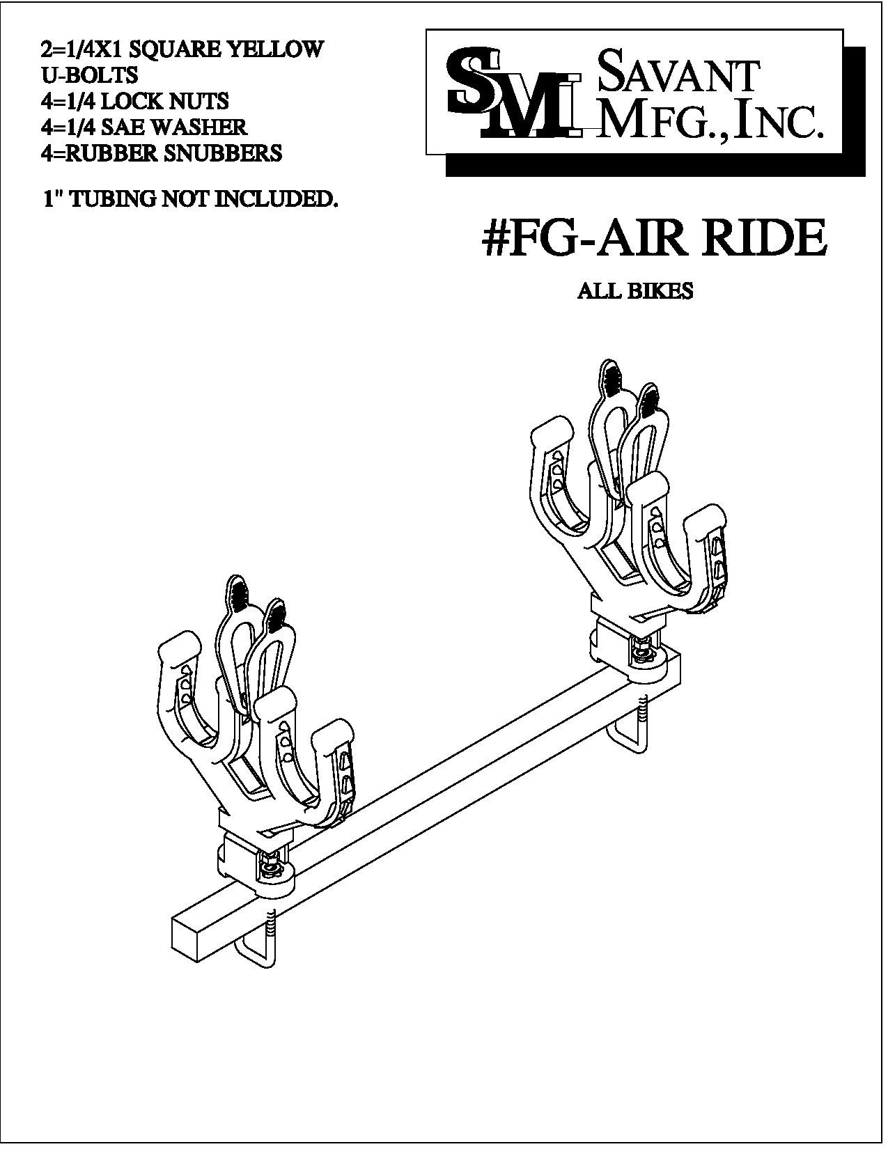 Replacement Pair of Gun Mounts with hardware By Strong Made FG-AIR-RIDE