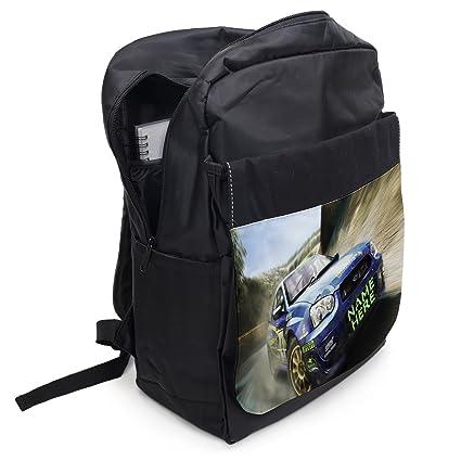 13f8e78cf52e Personalised School Bag Rally Racing CAR ST437 Boys Backpack Kids Sports  Rucksack - Black  Amazon.co.uk  Luggage