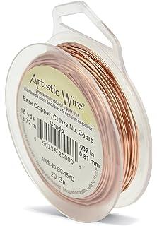 Amazon.com: Artistic Wire 18-Gauge Bare Copper Wire, 4-Yards