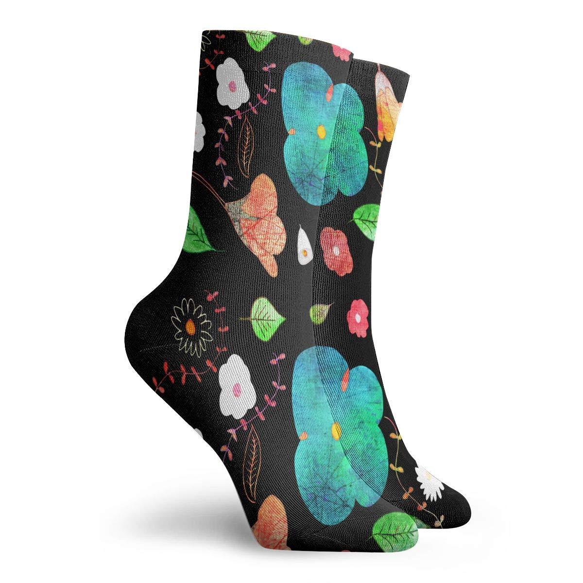 Japanese Midnight Garden Fashion Dress Socks Short Socks Leisure Travel 11.8 Inch