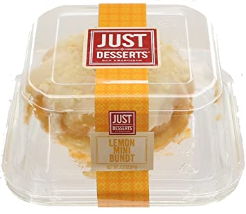 Just Desserts Mini Lemon Glazed Bundt Cake, 4.1 oz (Frozen)