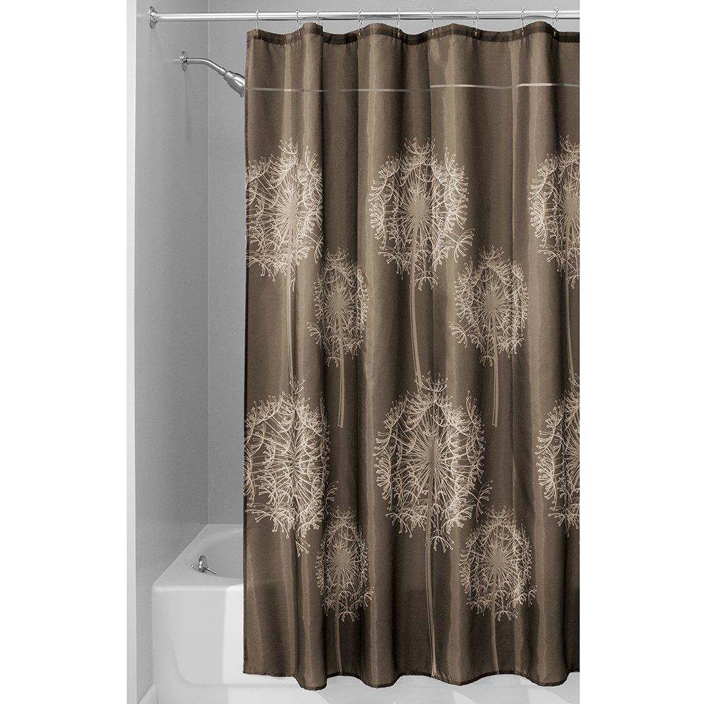 InterDesign Dandelion Shower Curtain, 54x78-Inch, Cocoa Inc 37010