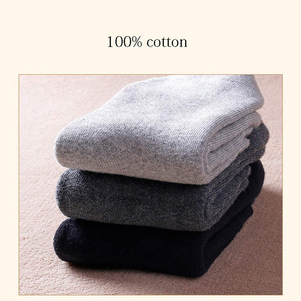AX-living supplies Socks Winter Warm Thick Sweat-Absorbent Breathable 100/% Cotton//Black UK6-10 EUR39-45 Gray Blue Color 4 Pairs