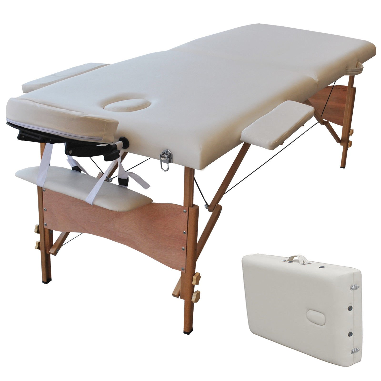 New 84''L Portable Massage Table Facial SPA Bed Tattoo w/Free Carry Case White
