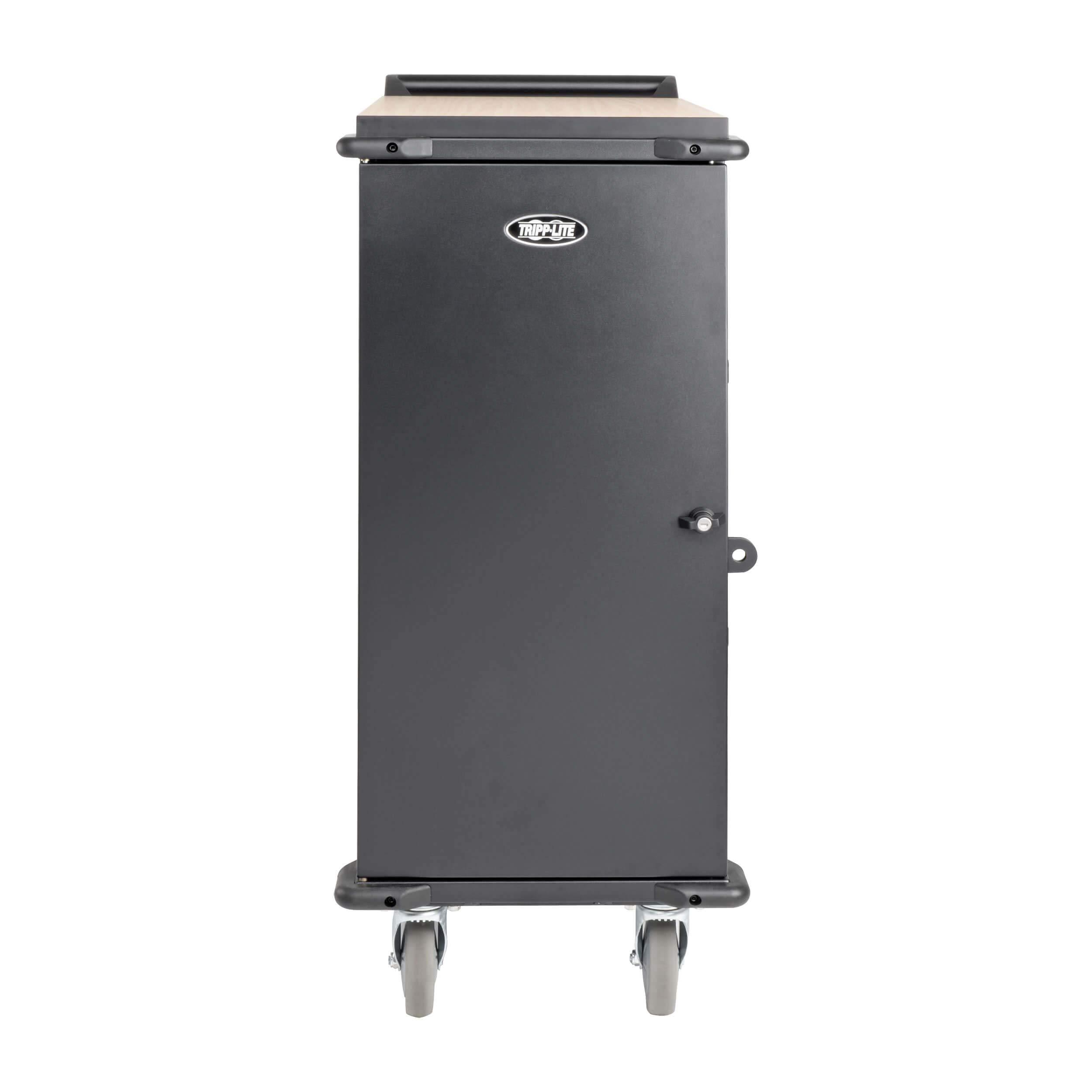 Tripp Lite 27-Port AC Mobile Charging Cart Storage Station for Chromebooks, iPads, Laptops, Tablets, Black (CSC27AC) by Tripp Lite (Image #1)