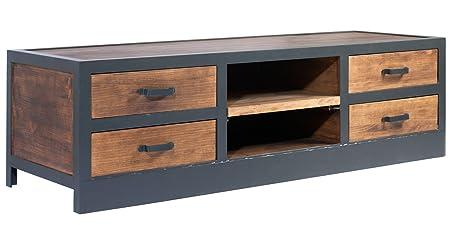 Mobili Porta Tv Stile Industriale.Indhouse Mobile Tv Loft In Stile Industriale In Metallo E Legno