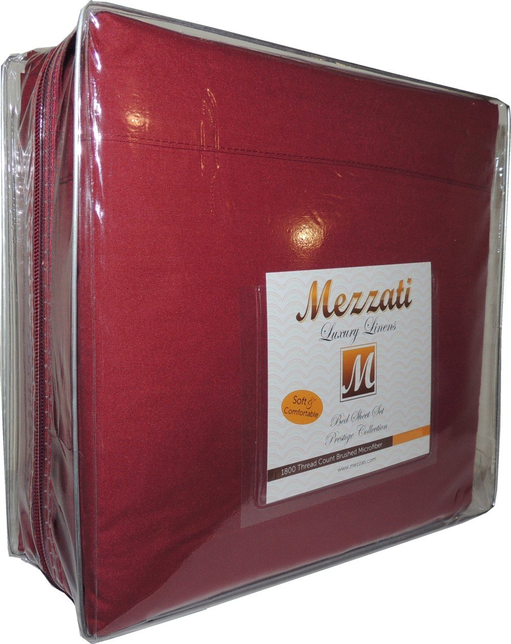 Burgundy Queen Mezzati Luxury Bed Sheets Set - Sale