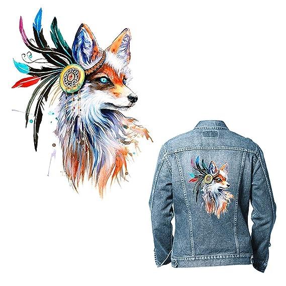 Garciasia DIY único Colorido patrón de Caballo de Fox Camiseta de Transferencia de Calor Pegatina: Amazon.es: Hogar