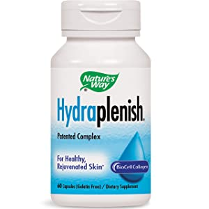 Nature's Way Hydraplenish w/BioCell Collagen for Healthy Skin, 60 Count