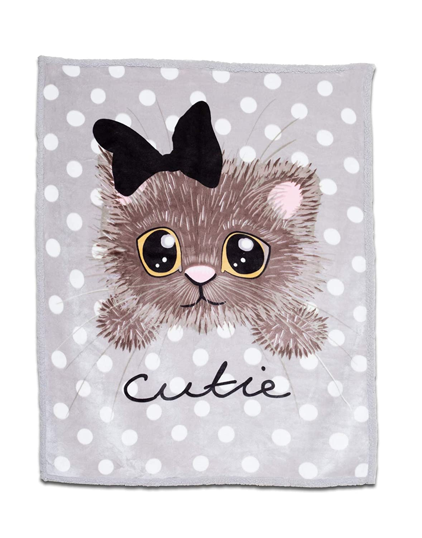LUSH HOME Kids Super Soft Throw Blanket, 40 x 50 inches (Kitty)