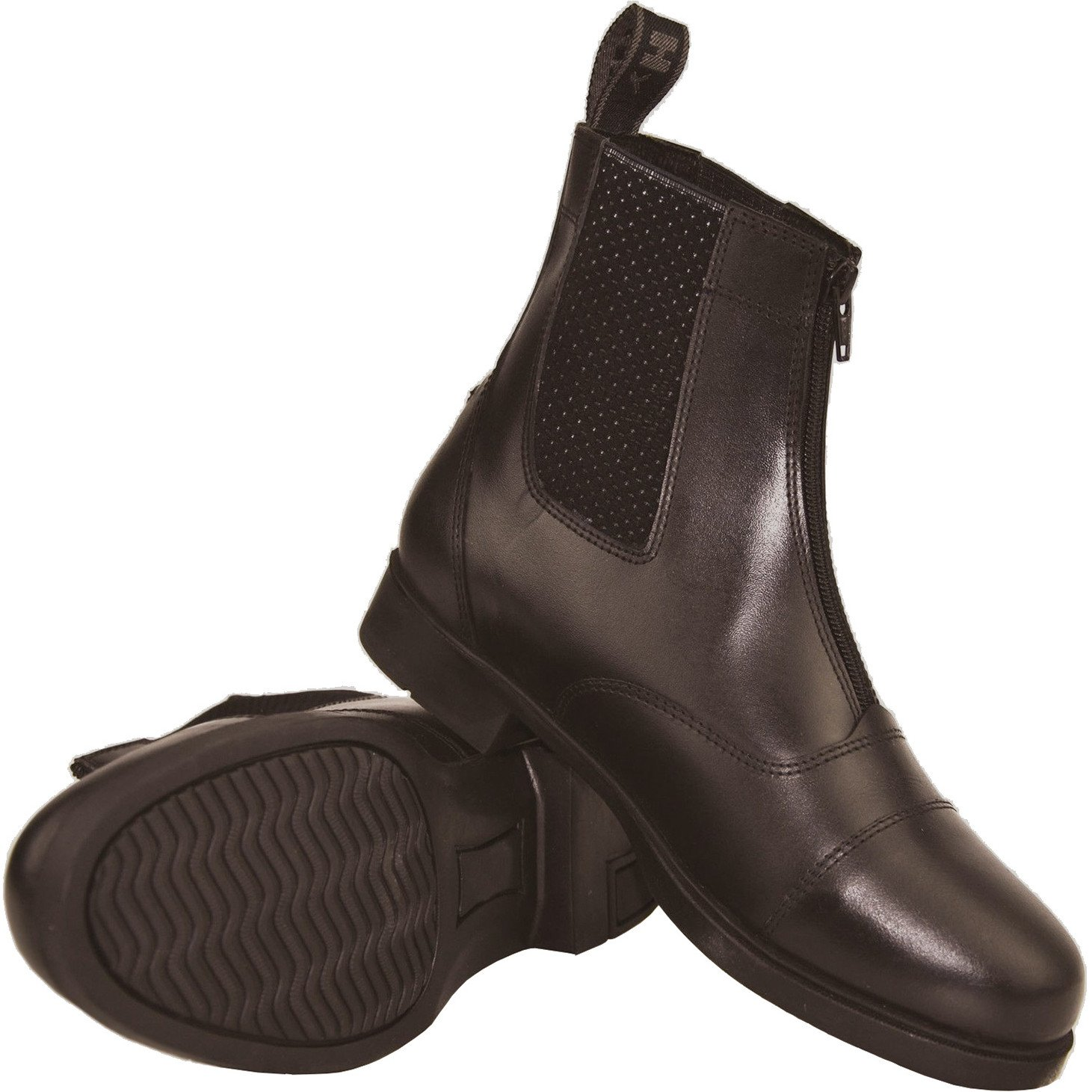 Y-H Hy Canterbury Zip Up Jodhpur Short Leather Boots Junior Sizes