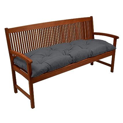 Beautissu Bankauflage Flair BK ca.150x50x10 cm Bequeme Polster Garten-Bank Auflage Sitzauflage Bank in Anthrazit erhältlich