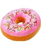 Ailiebhaus Donut Soft Kissen Schokoladen Plüsch Zierkissen ,#F