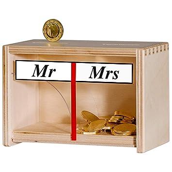 Fantastisch Spardose Mr U0026 Mrs U2013 Lustige Geldgeschenke Fürs Brautpaar U2013  Hochzeitsgeschenke Deko Weiß Holz U2013 Persönliche