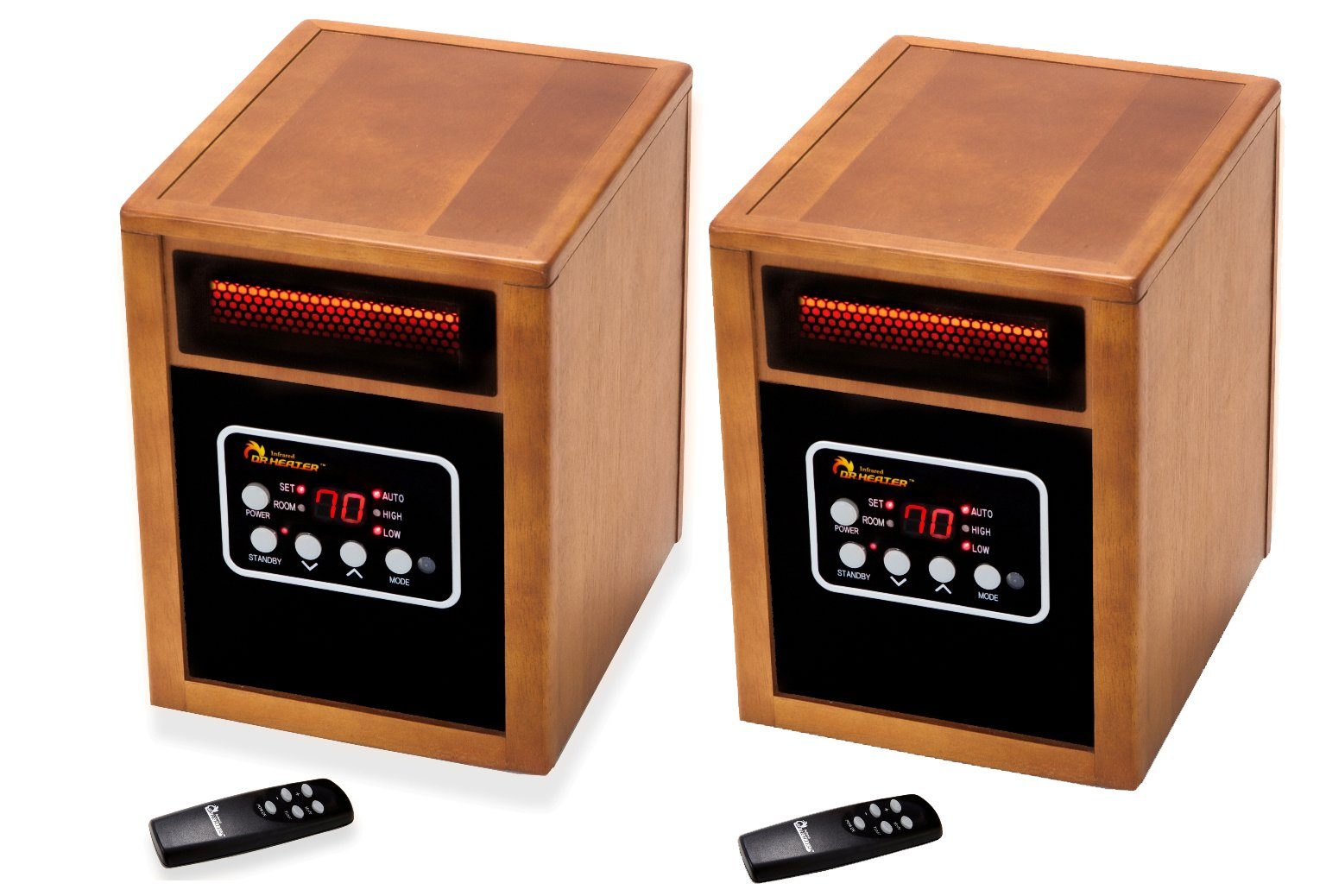 Dr. Infrared Heater Portable Space Heater, 2 Pack, 1500-Watt