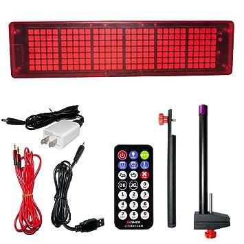 YKL mundo LED más grande pantalla de carrera calendario reloj temporizador digital con mando a distancia para juego, color rojo: Amazon.es: Juguetes y ...