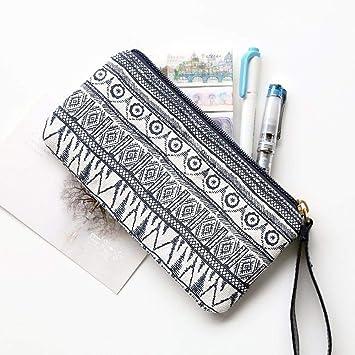 Amazoncom Storage Stationery Canvas Zip Purse Fabric Pen