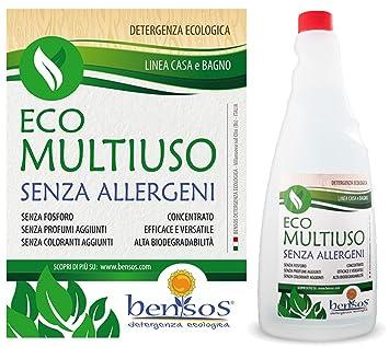 bensos - Multiusos Concentrado sin enjuague sin alérgenos ecológico Bote de 0,75l. (MS075): Amazon.es: Hogar
