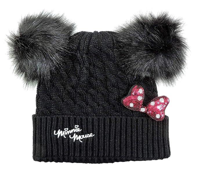 Cappello Invernale Bambina Minnie Disney con Orecchie PON PON e Fiocco 3D  Cuffia Inverno Bimba de9c34cd901b