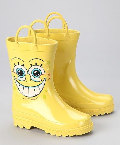 nickelodeon spongebob squarepants boy s yellow rain boots uk size