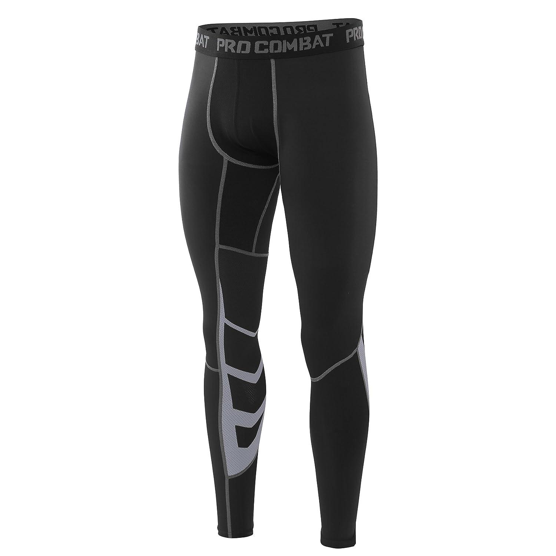 AMZSPORT di sport degli Uomini freddo secco UX Compressione media calzamaglia Baselayer ghette pelli termici pantaloni di formazione pro per tutta la stagione