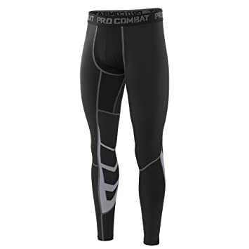 261df4bce6618 AMZSPORT Men's Sports Compression Tights Cool Dry Baselayer Leggings Pro  Traning Pants for All Season Black