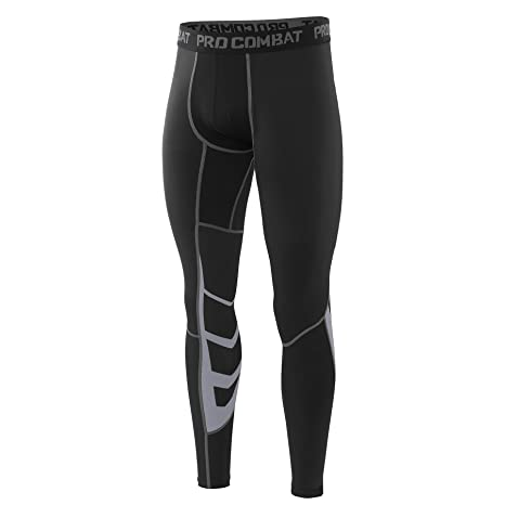 AMZSPORT Herren Fitness Hose Pro Cool Compression Tights Funktionswäsche Pants