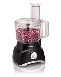 Hamilton Beach 70740 8-Cup Food Processor, Black (Certified Refurbished)