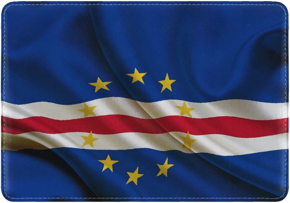 National Flag Republic Cape Verde Leather Passport Holder Cover Case Travel One Pocket