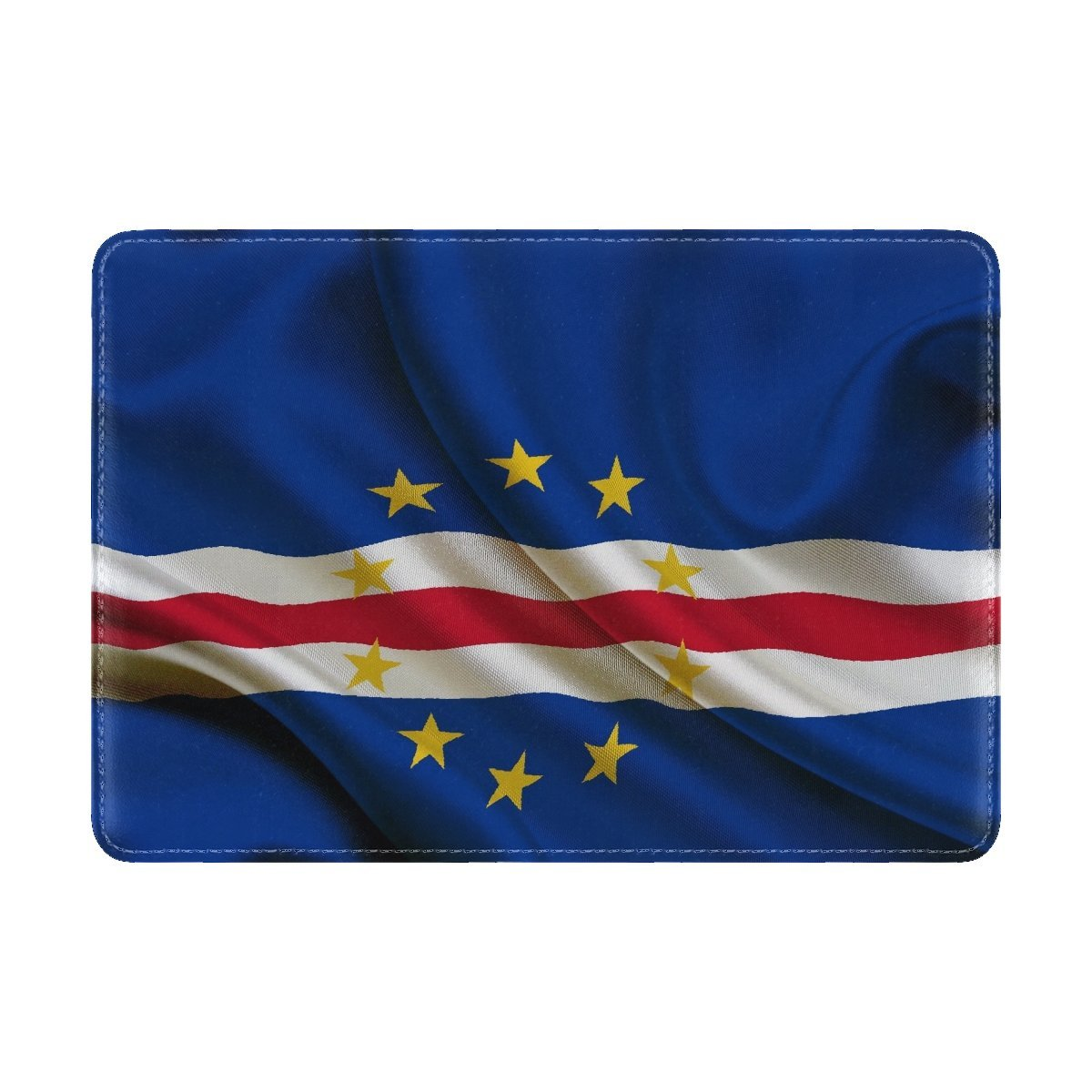 National Flag Republic Cape Verde Leather Passport Holder Cover Case Travel One Pocket by Fenda (Image #3)
