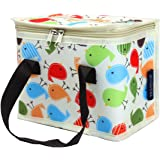 TEAMOOK Lunch Bag Insulated Lunch Box for kids and adults 1pcs (beige birds)