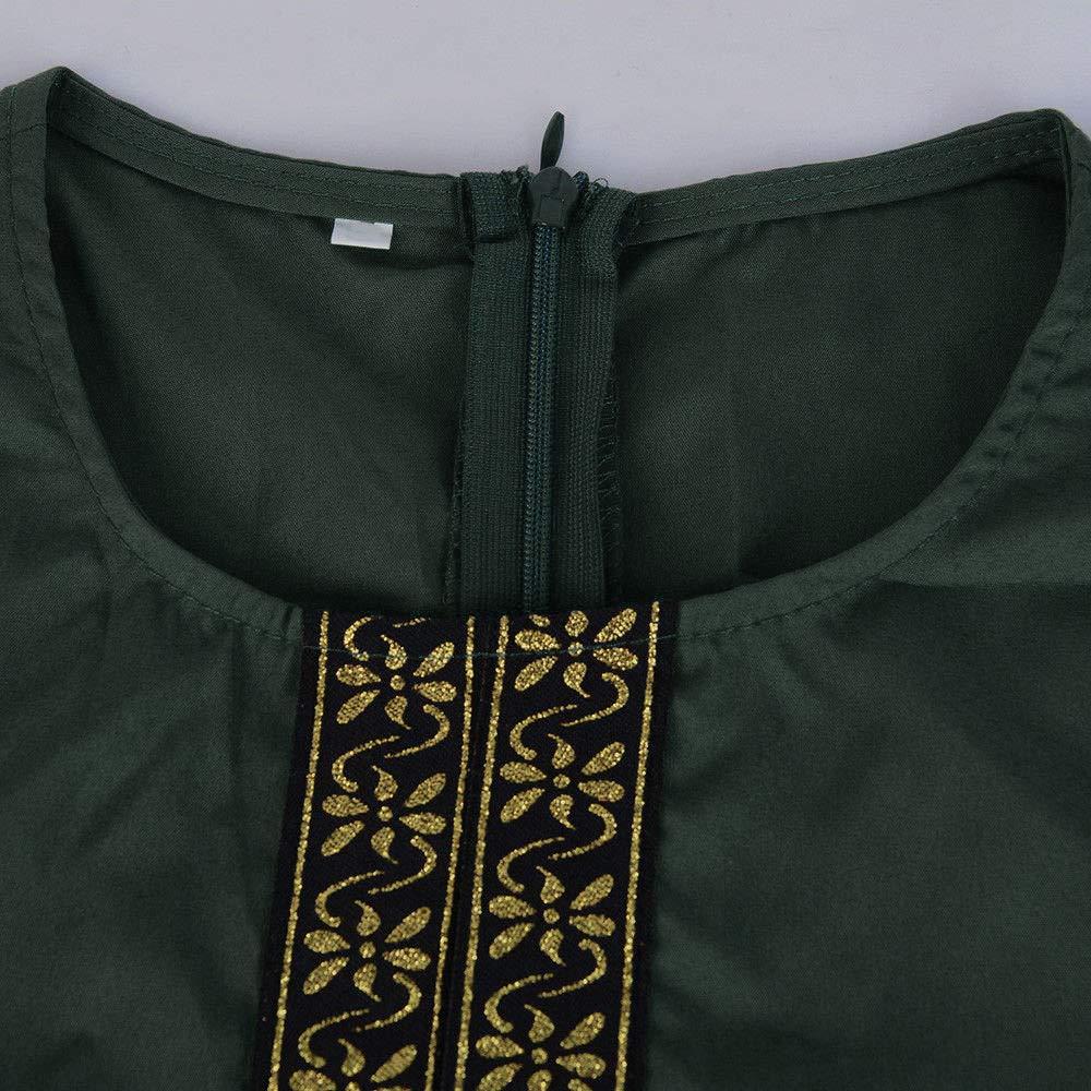 DEELIN Womens Dresses Summer 2019 Long Sleeve Solid Color Ladies Muslim Dress Vintage Casual Dress Loose Kaftan Long Maxi Dresses Plus Size