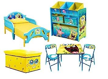 Amazon.com: Bob Esponja infantil recámara Bundle Set cama ...