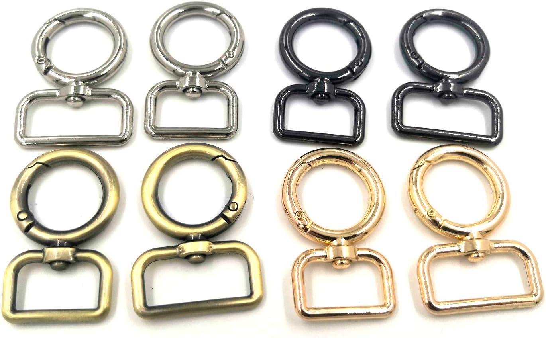Bronze Clasps Hooks Keychain Ring Buckles Shinning Swivel Snap Fashion Clips YIXI-SBest 12 Pcs 3//4 Inch Outside Width Zinc Alloy Heart Shape Swivel Buckles Trigger Spring Keyring Buckle