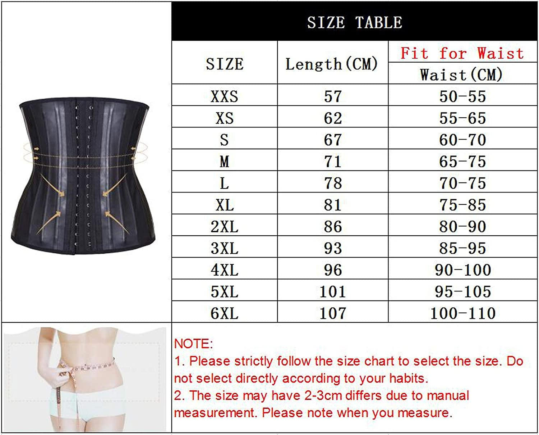 Waist Trainer Corset Belly Slimming Underwear Belt Sheath Modeling Strap 25 Steel Boned Waist,Skin,XXL