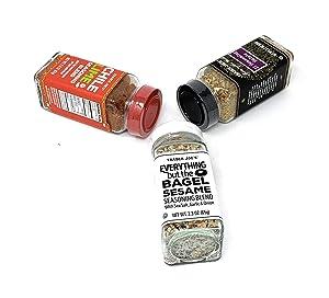 Trader Joe's Seasoning - 21 Salute Seasoning, Chile Lime and Everything but The Bagel Seasoning