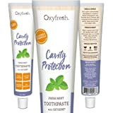 Oxyfresh Fluoride Mint Toothpaste – Low Abrasion, Cavity Fighting Formula – Dye-Free and Infused with Natural Essential Oil - Dentist Recommended, 5oz