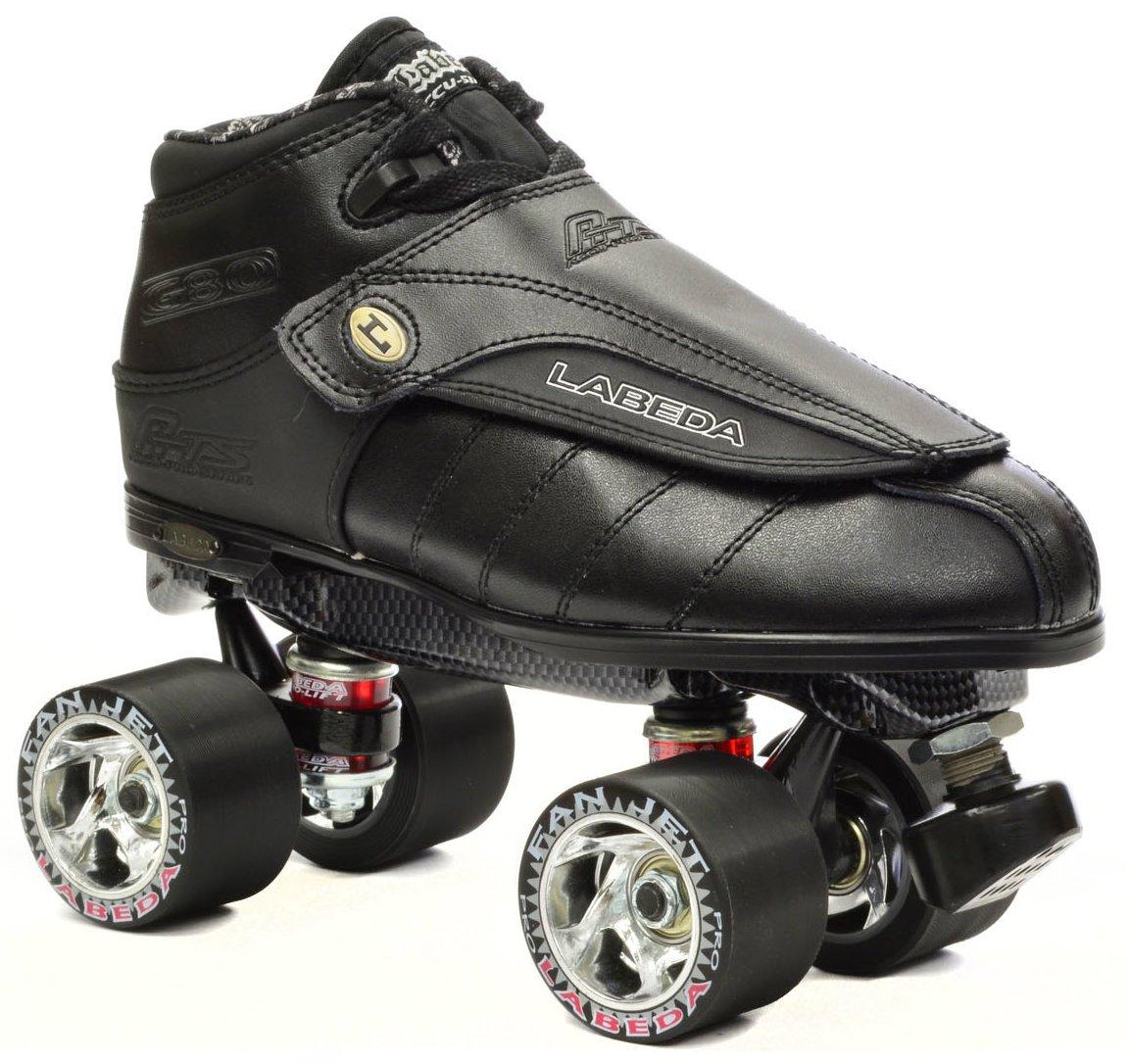 New Black Labeda G80 G-80 Knight Rider Leather Quad Speed Roller Derby Jam Skate (Mens 5 / Ladies 6)