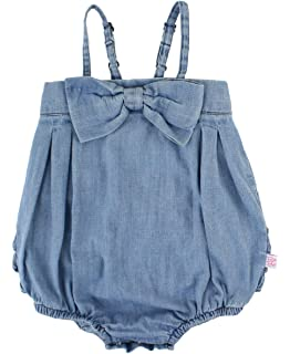 0c487ee421c9 RuffleButts Baby Toddler Girls Bow-Front Bubble Romper One Piece w Ruffles