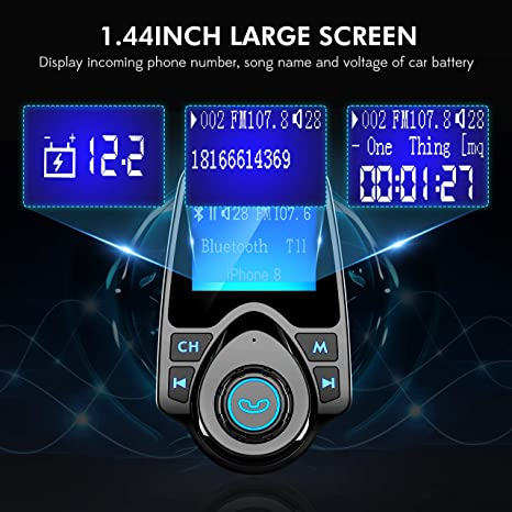 Hands-Free Car Kit Charger TF Card 1.44'' LCD Diaplay GEBH046AB ...